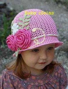 touca infantil menina crochet - Pesquisa Google