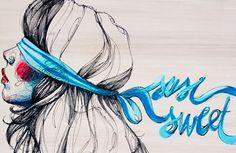 paula bonet hotel - Watercolor Drawing, Watercolor Portraits, Figure Drawing, Line Drawing, Adara Sanchez, Paula Bonet, Love Illustration, Paul Gauguin, Gcse Art