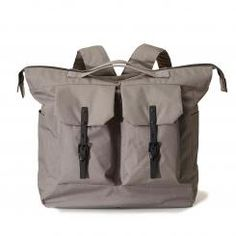 The Frank large ripstop rucksack in grey is the original unisex backpack from Ally Capellino. With its signature top handles, double pockets, boxy Creative Hub, Backpacks, Unisex, Grey, Pink, Bags, Vegan Friendly, Equestrian, Urban