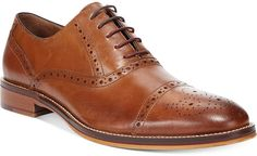 Brown Leather Oxford Shoes by Johnston & Murphy. Buy for $155 from Macy's