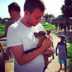 Damon with goat