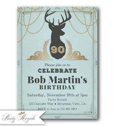 90e anniversaire Invitation pour les hommes, adultes Invitations d'anniversaire, Invite 90e anniversaire des hommes, 80e anniversaire, 70e anniversaire ou n'importe quel âge #printables #invitations #printableinvitations #anniversaire #anniversary #cards #mariage #wedding #diy #diycrafts