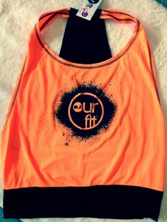 Our Fit Orange Backless Fluro Top