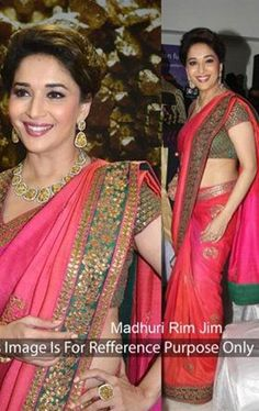 Picture of Spectacular Pink Bollywood Designer Saree