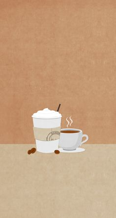 Split screen coffee/tea wallpaper