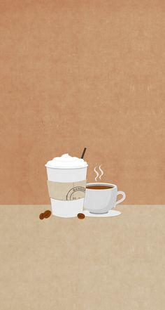 Split screen coffee/tea wallpaper