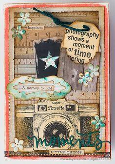 Photo box using Darkroom Door Camera Eclectic Stamp and Eileen Hull dies.