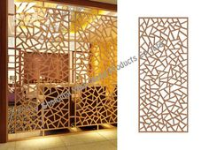 Gallery of laser cut screens, photos to show the processed panels, the finished products and the samples we made for metal screens. Wood Partition, Partition Screen, Partition Design, Decorative Metal Screen, Wooden Screen, Decorative Panels, Laser Cut Screens, Laser Cut Panels, Jaali Design