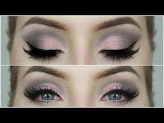 Grey and Pink Eyeshadow | Makeup Tutorial - YouTube