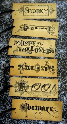 Halloween Haunting-Vintage Style Halloween Gift Tags