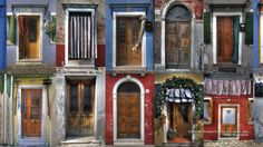 Doors and Windows From Burano, Venice, Italy