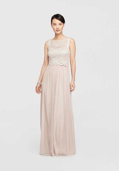 94a86e1f49 David s Bridal David s Bridal Style 21320 Pink Mother Of The Bride Dress  Lace Bridesmaid Dresses