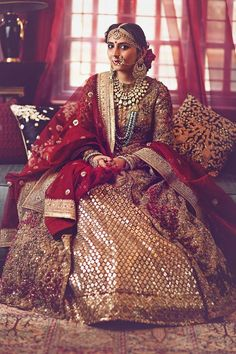 Best of the best Sabyasachi bridal lehenga collection for winter weddings Indian Bridal Fashion, Indian Bridal Wear, Indian Wedding Outfits, Pakistani Bridal, Bridal Outfits, Indian Wear, Indian Outfits, Bridal Dresses, Indian Clothes