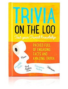 Buy the Trivia On The Loo Book from Marks and Spencer's range. Novelty Christmas Gifts, Funny Christmas Gifts, Novelty Gifts, Christmas Wishes, Christmas Shopping, Xmas Gifts, Trivia, Knowledge, Facts