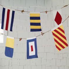 Nodical Nautical Flag Banner  | The Land of Nod  For Mr. Cruz's room
