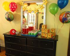 Mario Brothers Birthday Party