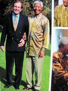 With world's first heart transplant surgeon, South African, Chris Barnard with Nelson Mandela