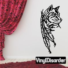 Wolf Wolves Wall Decal - Vinyl Decal - Car Decal - 055