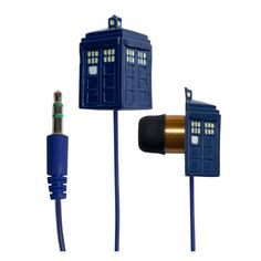 What's that? I can't hear you. These Doctor Who TARDIS Earbuds are louder on the inside! These Doctor Who TARDIS Earbuds will transport your ears through space and time and make your music sound great.   They don't even
