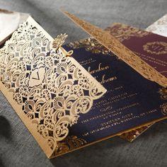 Gold Foil w/Navy Elegant, Glamorous Wedding Invitation Scroll Wedding Invitations, Wedding Invitation Cards, Wedding Cards, Wedding Stationary, Wedding Bells, Sikh Wedding, Punjabi Wedding, Wedding Shit, Farm Wedding