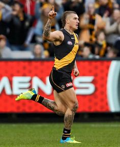 Richmond Football Club, Rugby Players, Hot Guys, Running, Tigers, Athletes, Sports, Tattoos, Hair