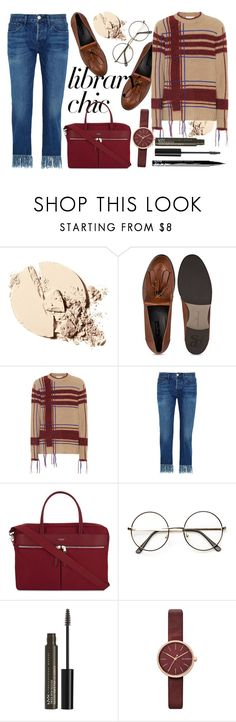 """""""Plaid Sweaters"""" by ellapriceless ❤ liked on Polyvore featuring Tory Burch, 3x1, Knomo, NYX, Skagen, plaid, polyvorefashion, librarychic and plaidsweaters"""