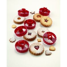 Create bakery style cookies in your kitchen with the Chicago Metallic Linzer Cookie Cutter Set, available at the Food Network Store.