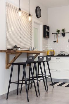 How to Organize a Breakfast Bar with 25 Functional Applied Samples | Sometimes we see that we do not have enough space to create the decor as we want, and of course, there is no need to give up immediately.