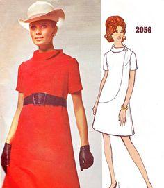 1960s Dress Pattern Vogue 2056 Bill Blass Mod A by paneenjerez, $45.00
