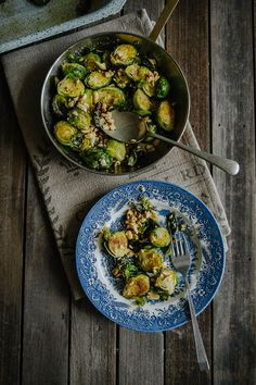 Roasted Brussels Sprouts w/ Honey + Peanuts