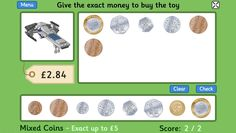 Toy Shop Money Game (GBP) - 4 to 11 year olds - Topmarks Now with the new coin Money Activities, Money Games, Buy Toys, Toys Shop, Teaching Money, Teaching Ideas, Year 1 Maths, Shopping Games
