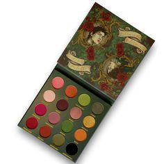 Colour Story, Color Stories, Indie Makeup, Iron Oxide, Cool Tones, Underworld, Eyeshadow Palette, Antique Gold, Pink Roses