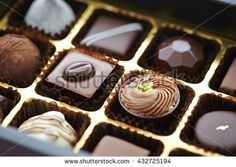 Assorted chocolate box - stock photo