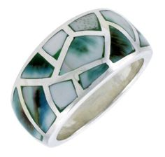 Classy Not Trashy Paved Dome Design Blue Cubic Zirconia Brass Womens Ring Size 8