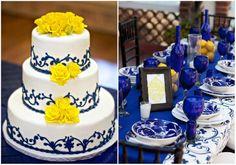 Gelb, Blau und Lila Hochzeit Ideen – 2014 Hochzeitsfarben Trend