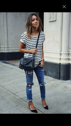 Love this outfit love #amazing - clothes, #stripes