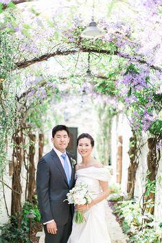 Brides: A Flower-Filled Spring Wedding in San Juan Capistrano, California