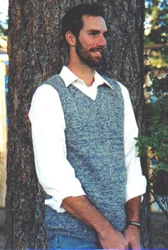 free crochet vest patterns | Men's sweater patterns : Tangle, Get in touch with your inner knitter