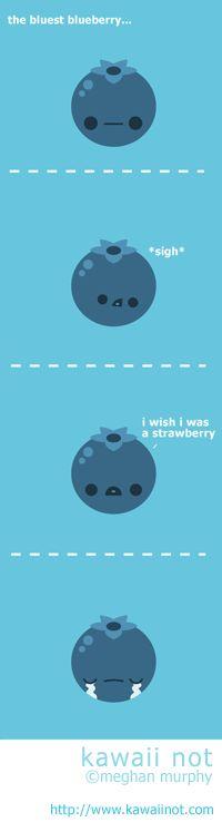 Kawaii Not - Blue Blueberries