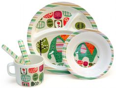 The coolest melamine plates for kids at Urban Baby