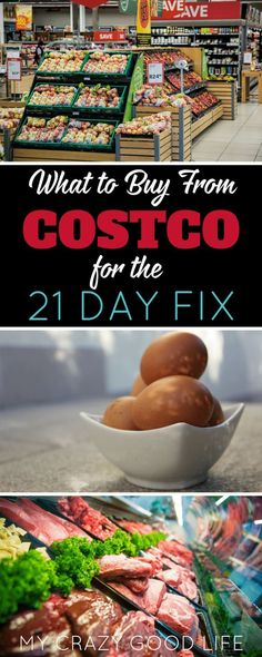 Wondering what to buy from Costco for the 21 Day Fix? I've listed my favorite deals that are Fix approved, and even added some recipe ideas (and videos!) for you! #21dayfix #beachbody #costco