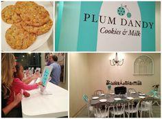 Plum Dandy Cookies and Milk in Saratoga Springs