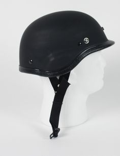 Flat Black Novelty Motorcycle Half Helmet Tiger Style R