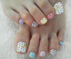 Dot Toe Nail Designs - 30+ Toe Nail Designs  <3 <3