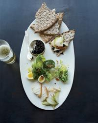 Smoked Sturgeon with Caviar and Everything Bagel Crumbs Recipe on Food & Wine Chef Recipes, Wine Recipes, Seafood Recipes, Bagel Bread, Eleven Madison, Elegant Appetizers, Everything Bagel