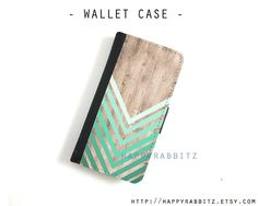 Ombre Wood Chevron Leather samsung galaxy note 3 wallet Case , flip samsung galaxy S4 case , samsung galaxy S3 folio case , cover on Etsy, $21.00