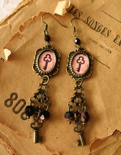 Keys Earrings by Minasmoke on Etsy, $17,60