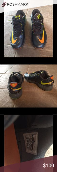 on sale cfb93 62ed6 Nike Kevin Durant Shoes Nike Air Zoom Kevin Durant KD VII 7 Elite Graphite  Volt Citrus Grey v 724349 478 Gently used. Near perfect Nike KD Shoes  Athletic ...