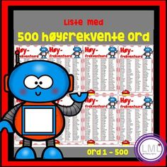 Høyfrekvente ord by LaerMedLyngmo Teacher Pay Teachers