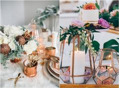 vintage copper wedding ideas
